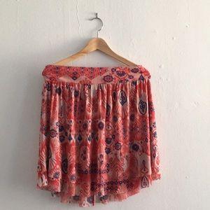 Anthropologie Weston Wear Patterned Skirt Sz M